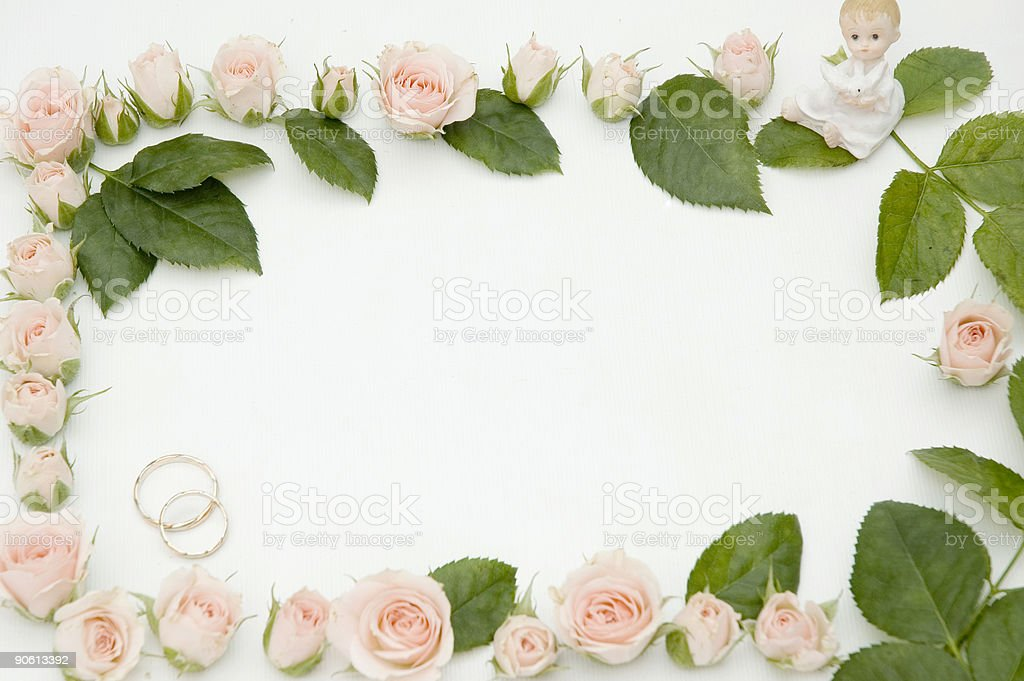 frame for wedding photo royalty-free stock photo