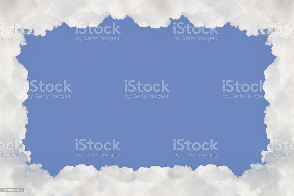 Frame from cloud. Abstract Background. stock photo