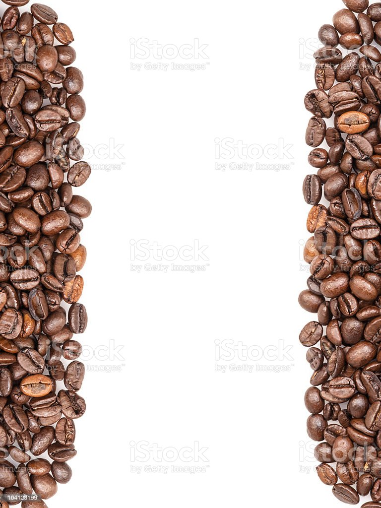 frame from coffee beans royalty-free stock photo