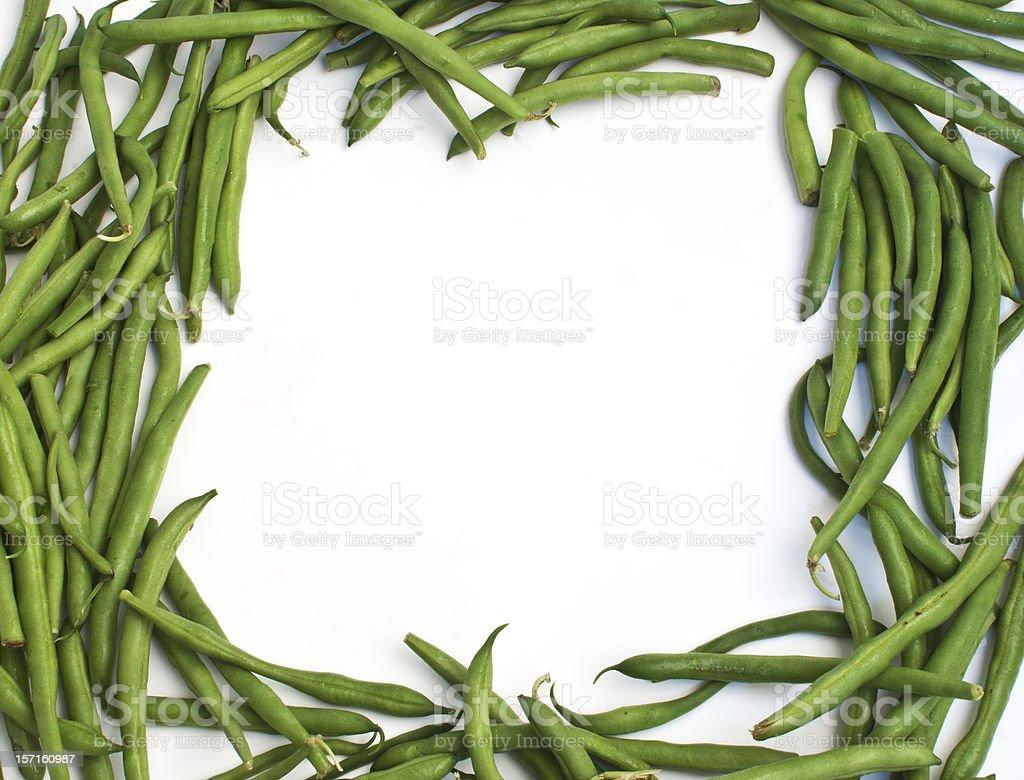 Frame from green beans vegetables stock photo