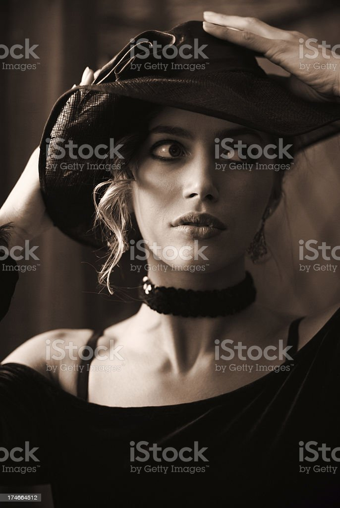 frame from old movie royalty-free stock photo