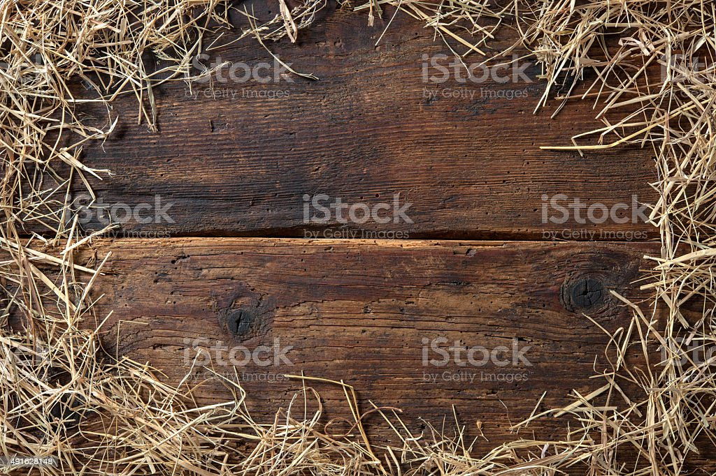 Frame from straw stock photo