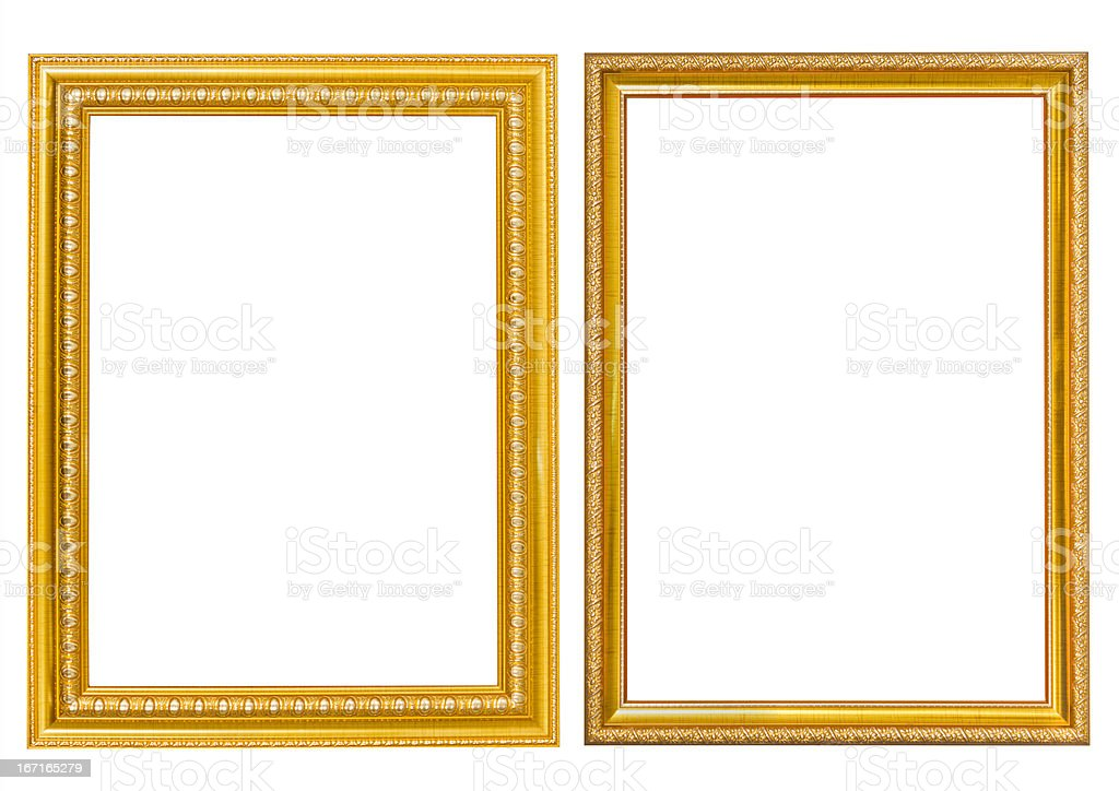 Frame gold style royalty-free stock photo