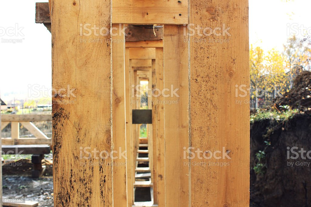 frame house wood stock photo