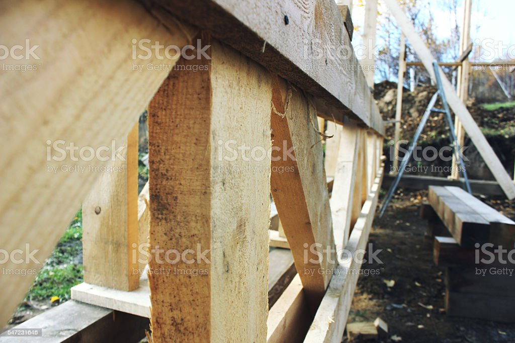 frame house wood stock photo