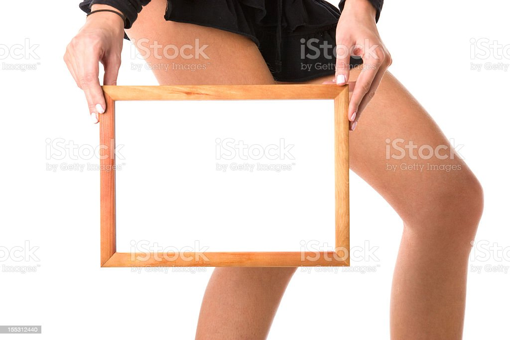 Frame in hands royalty-free stock photo