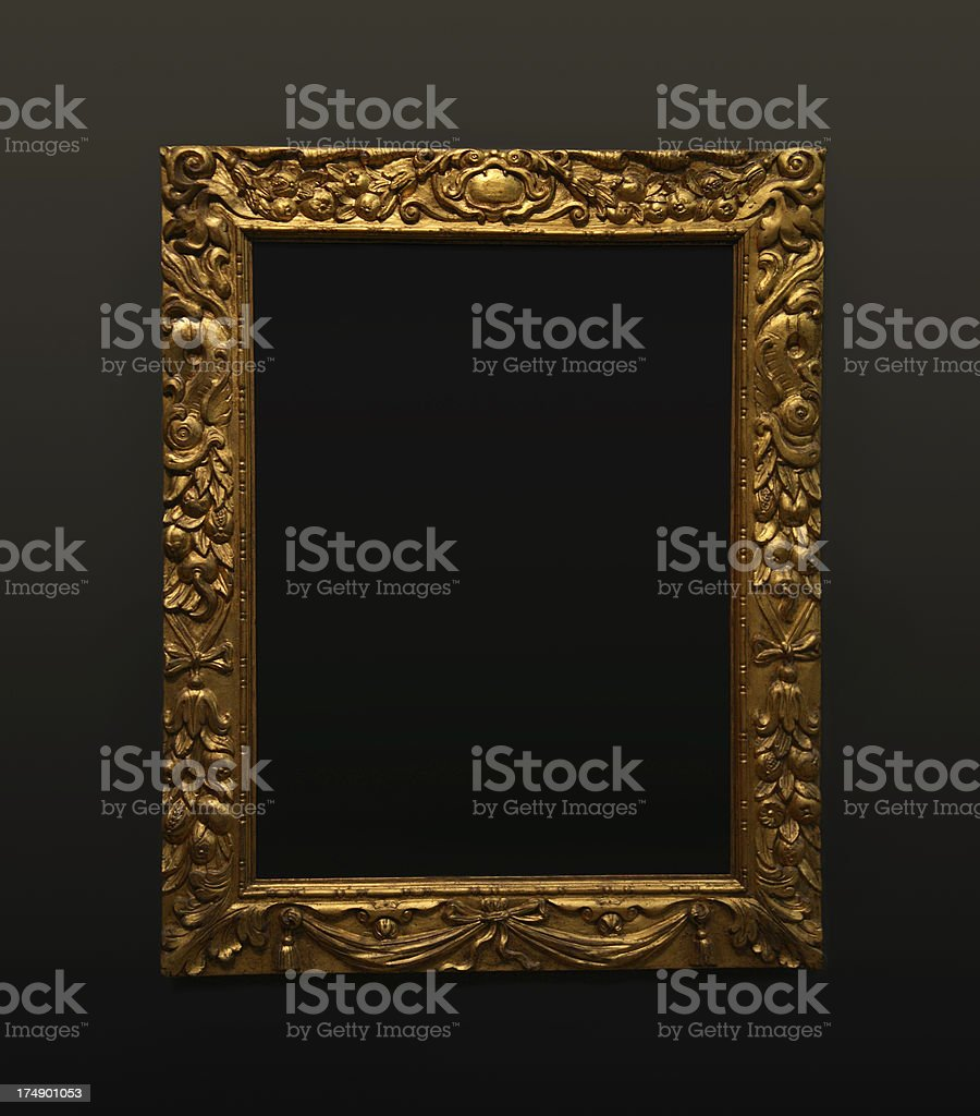 Frame in the wall - gallery stock photo