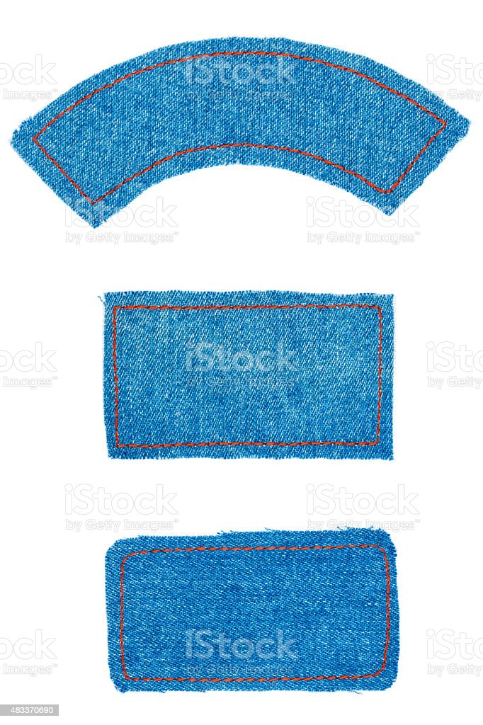 Frame, label made denim of  with space for text stock photo