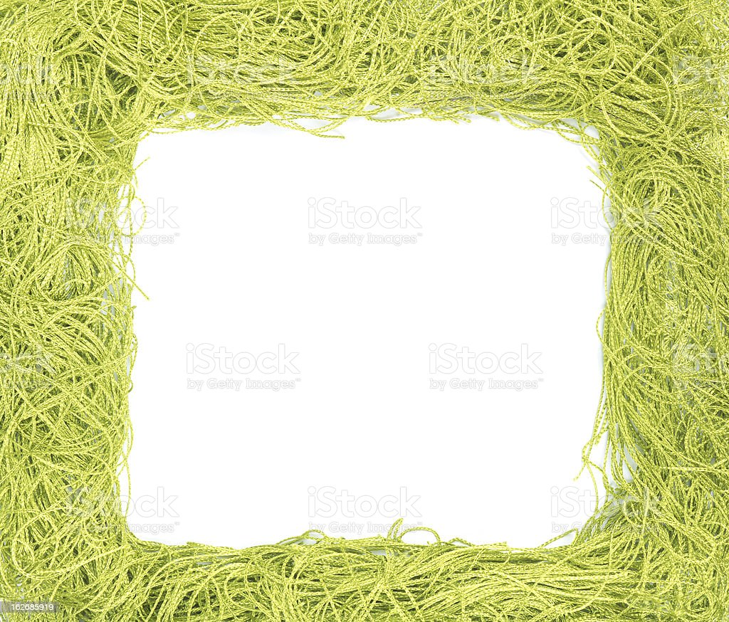 frame made from green strings royalty-free stock photo