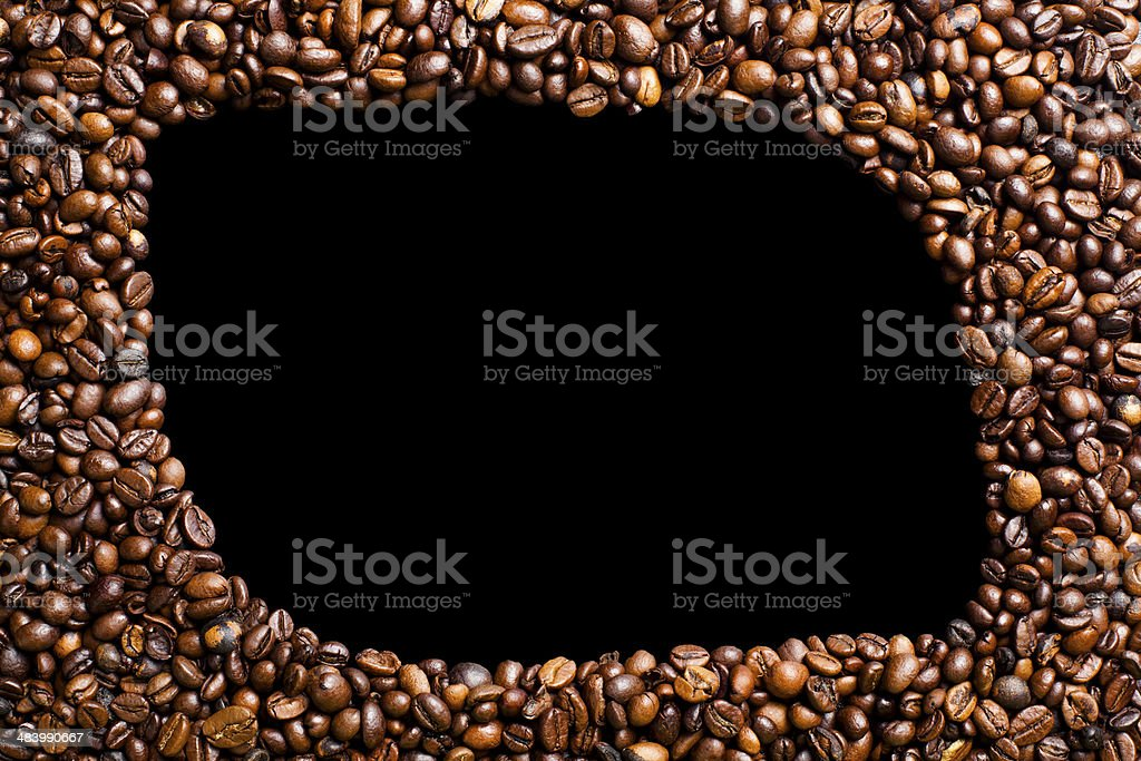 frame made of coffee beans royalty-free stock photo