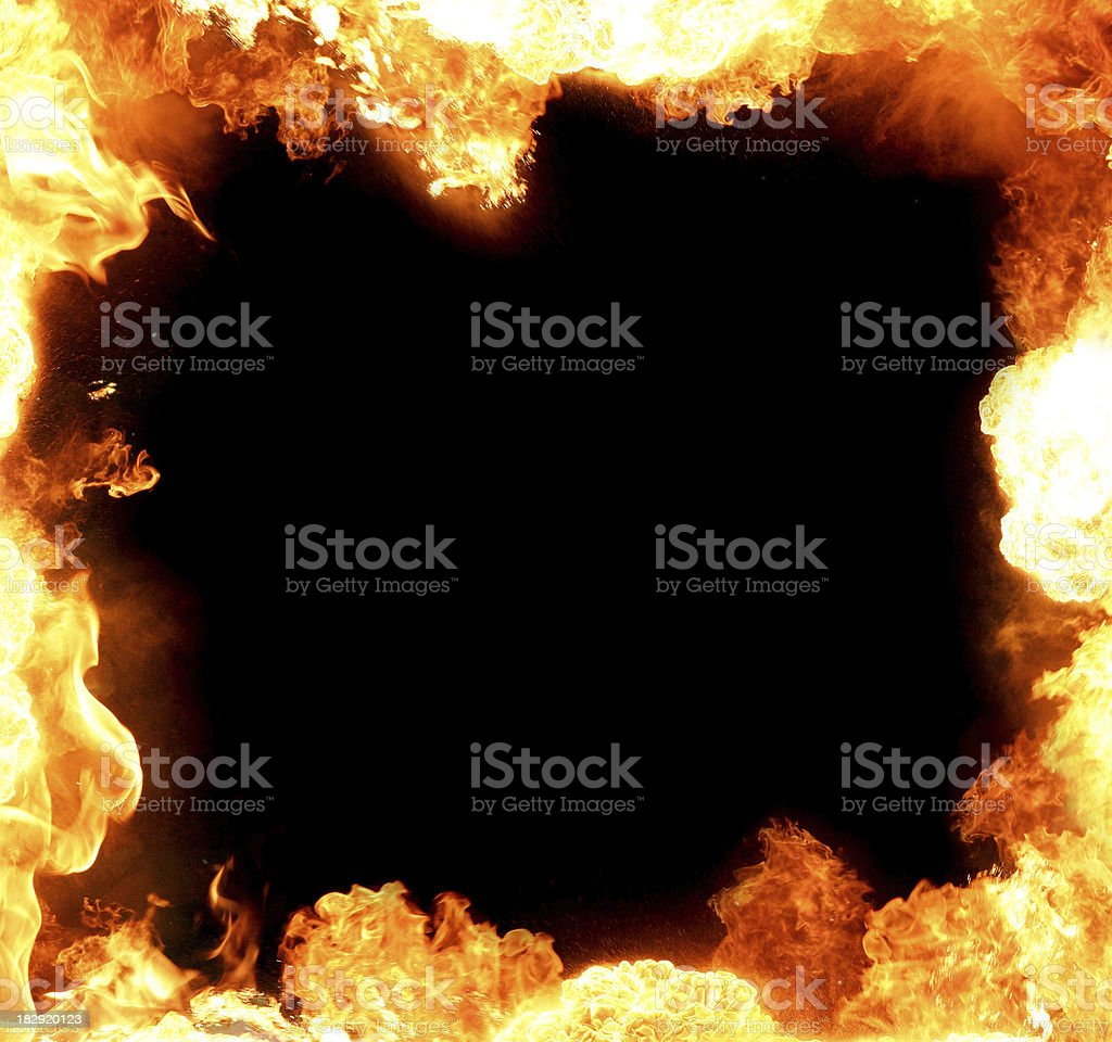 frame made of flame royalty-free stock photo