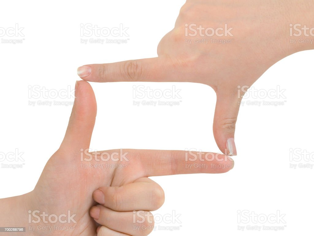 Frame made of hands stock photo