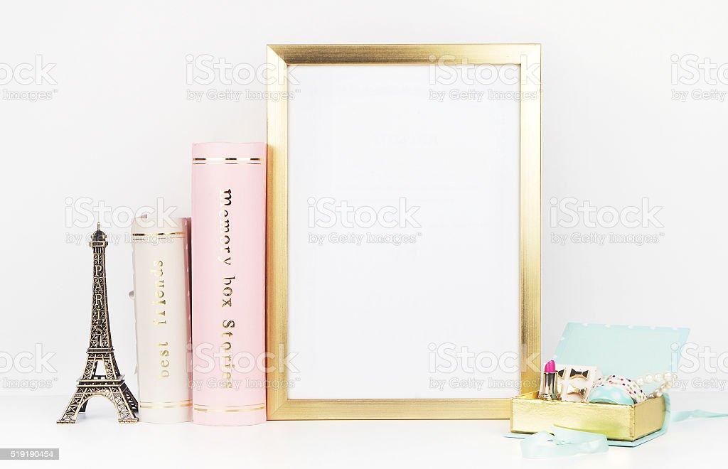 Quadro de maquetes para a sua foto ou texto, coloque seu trabalho foto royalty-free