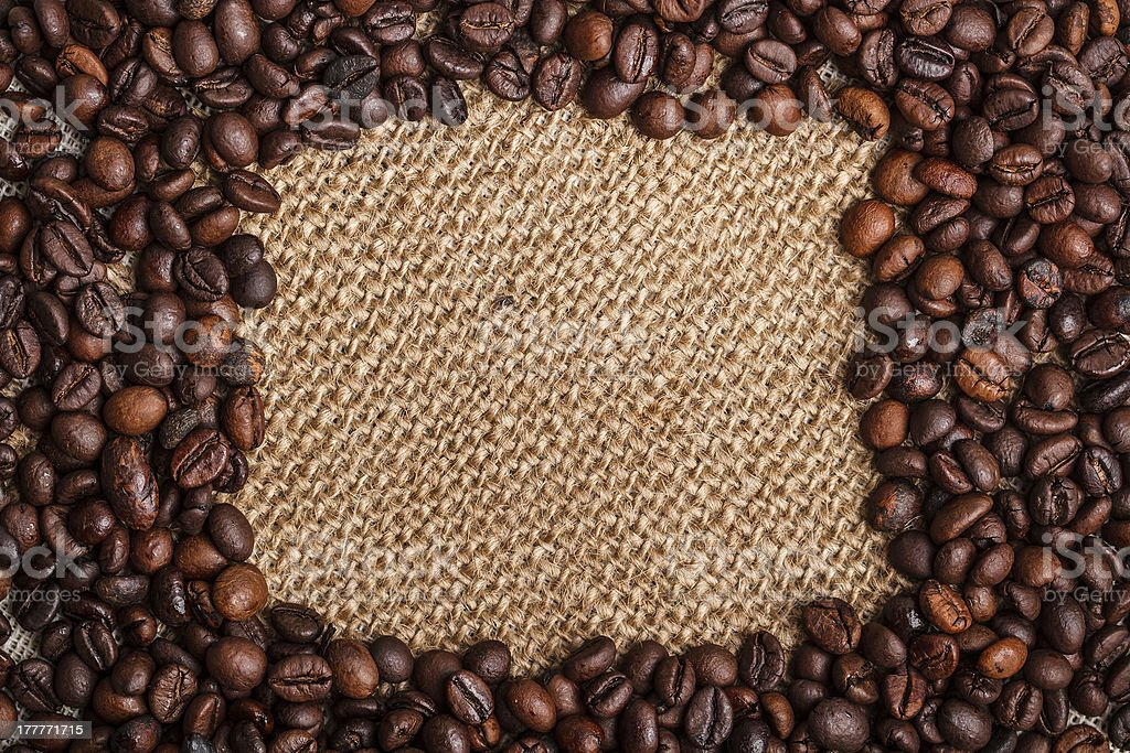 Frame of coffee royalty-free stock photo
