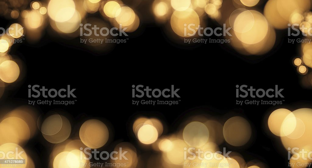 Frame of defocused lights on black with copyspace royalty-free stock photo