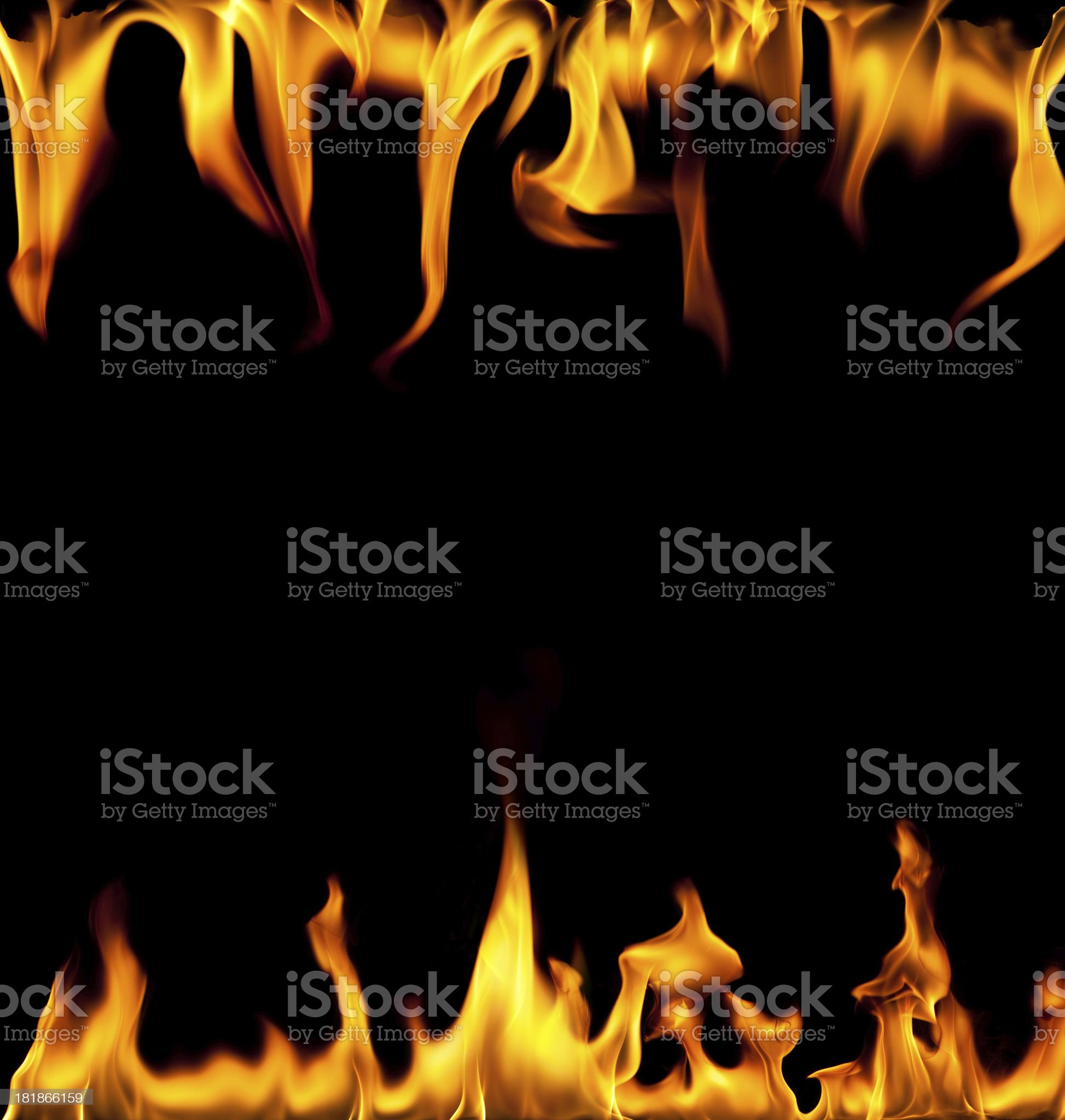 Frame of fire royalty-free stock photo