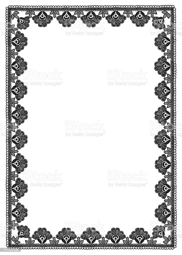 frame of floral pattern lace stock photo