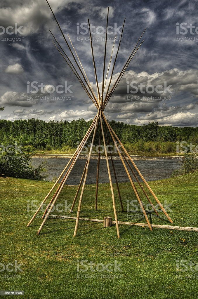Frame of Indian tipi royalty-free stock photo