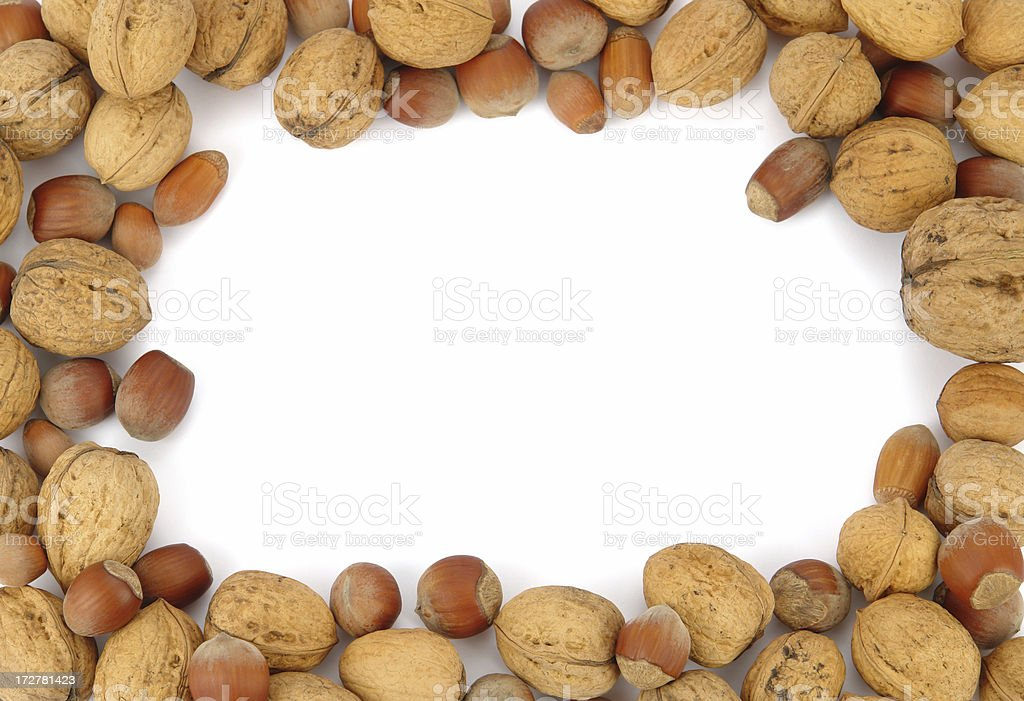 Frame of Nuts royalty-free stock photo