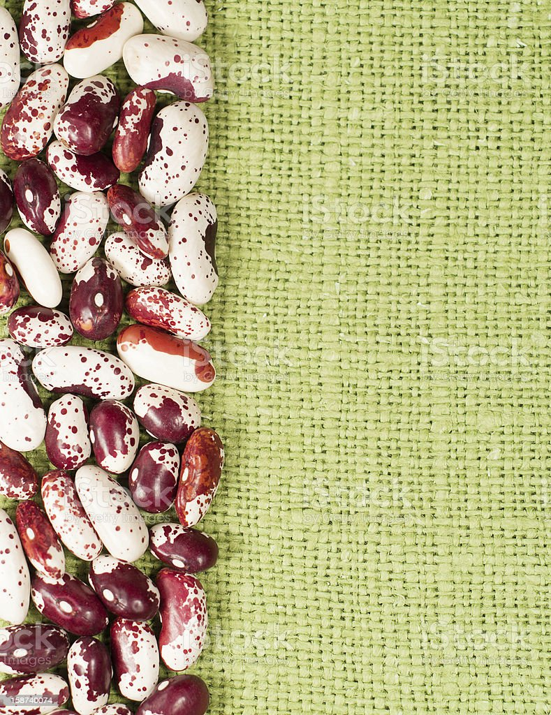 Frame of red haricot beans royalty-free stock photo
