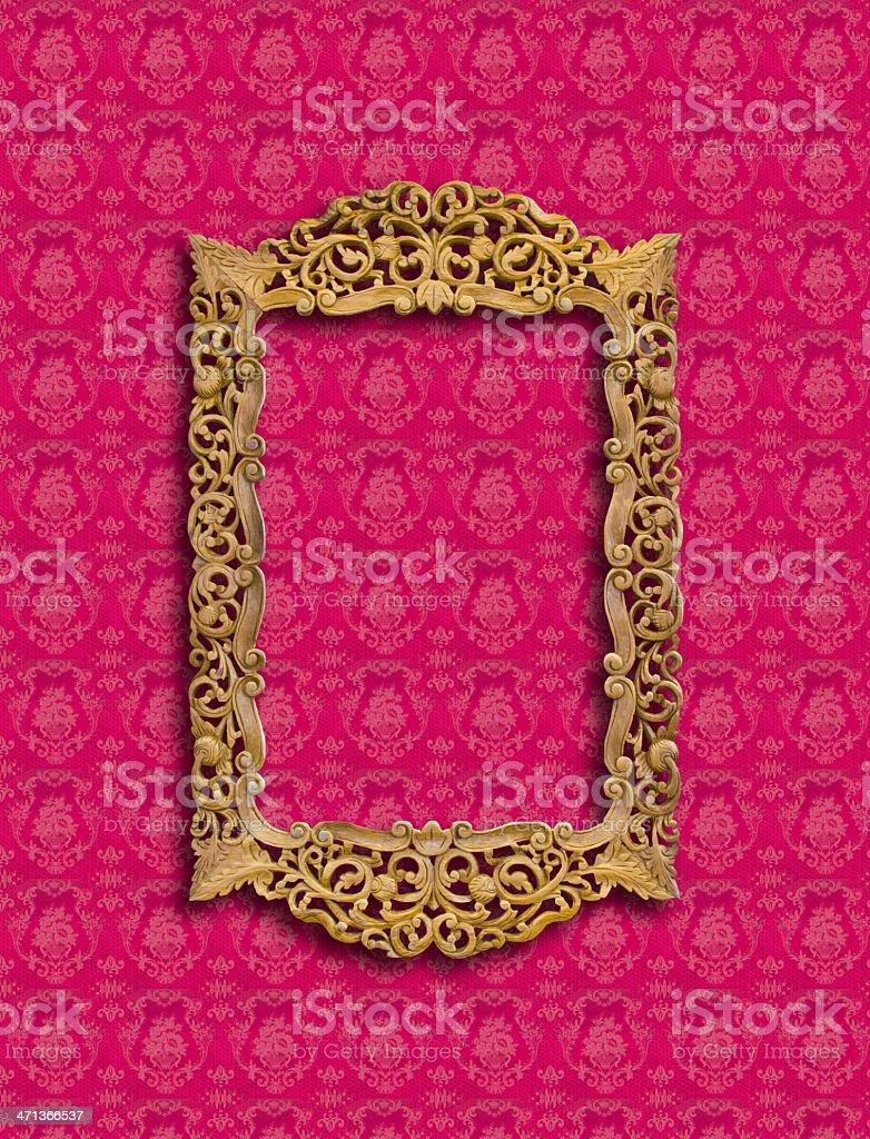 frame di scultura in legno su carta da parati foto stock royalty-free