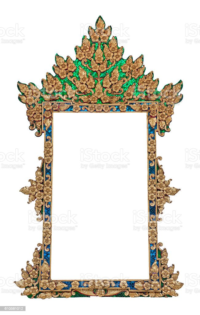 Frame of Thai ancient art stock photo