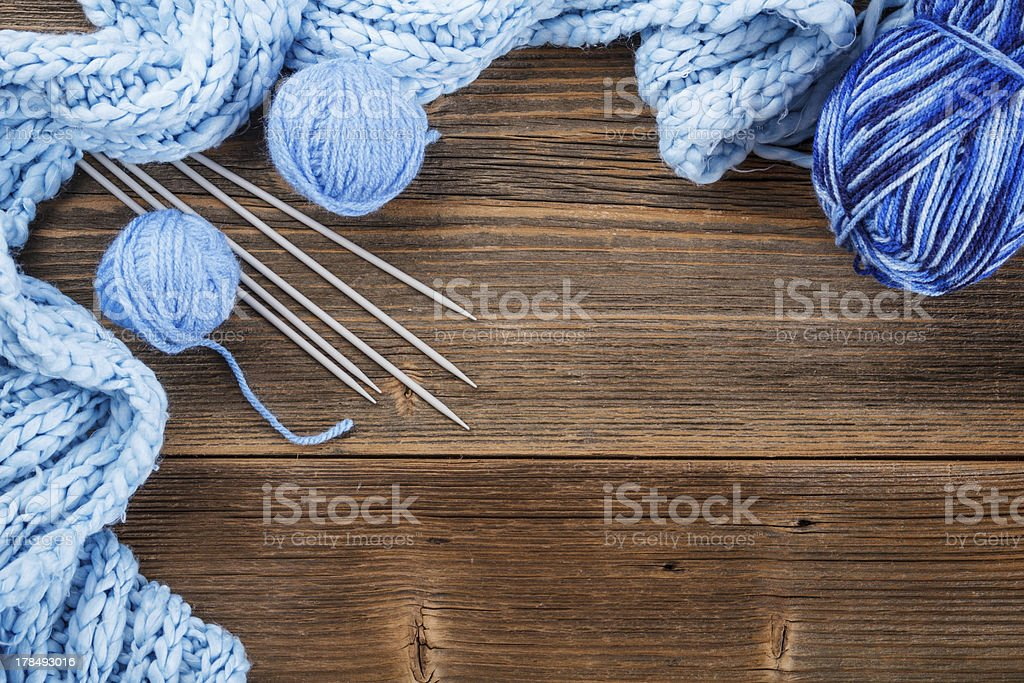 Frame of  yarn balls royalty-free stock photo