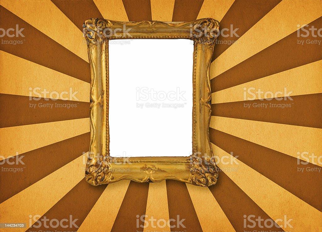 frame on retro background royalty-free stock photo