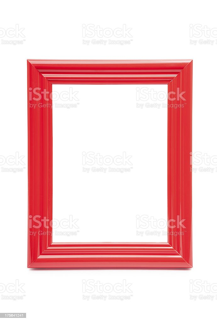 frame red on white background stock photo