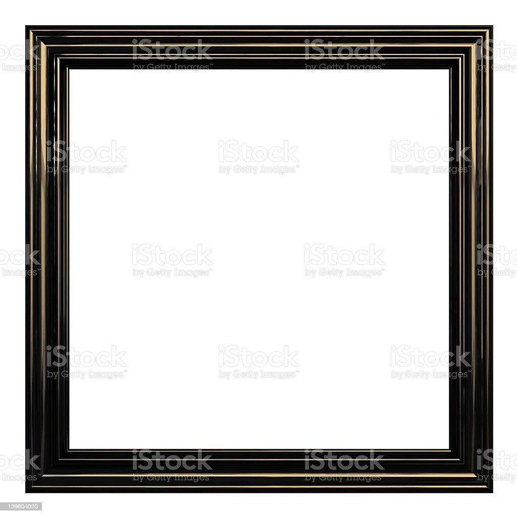 Frame Series I - Square / Metallic (with Clipping Path) royalty-free stock photo