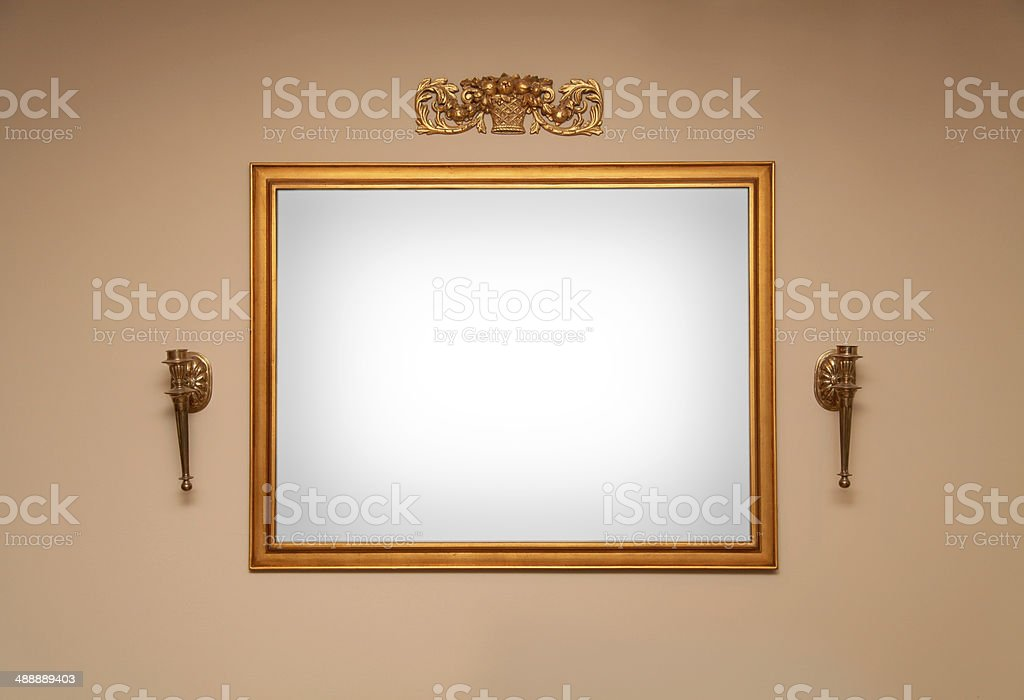 Frame wall stock photo
