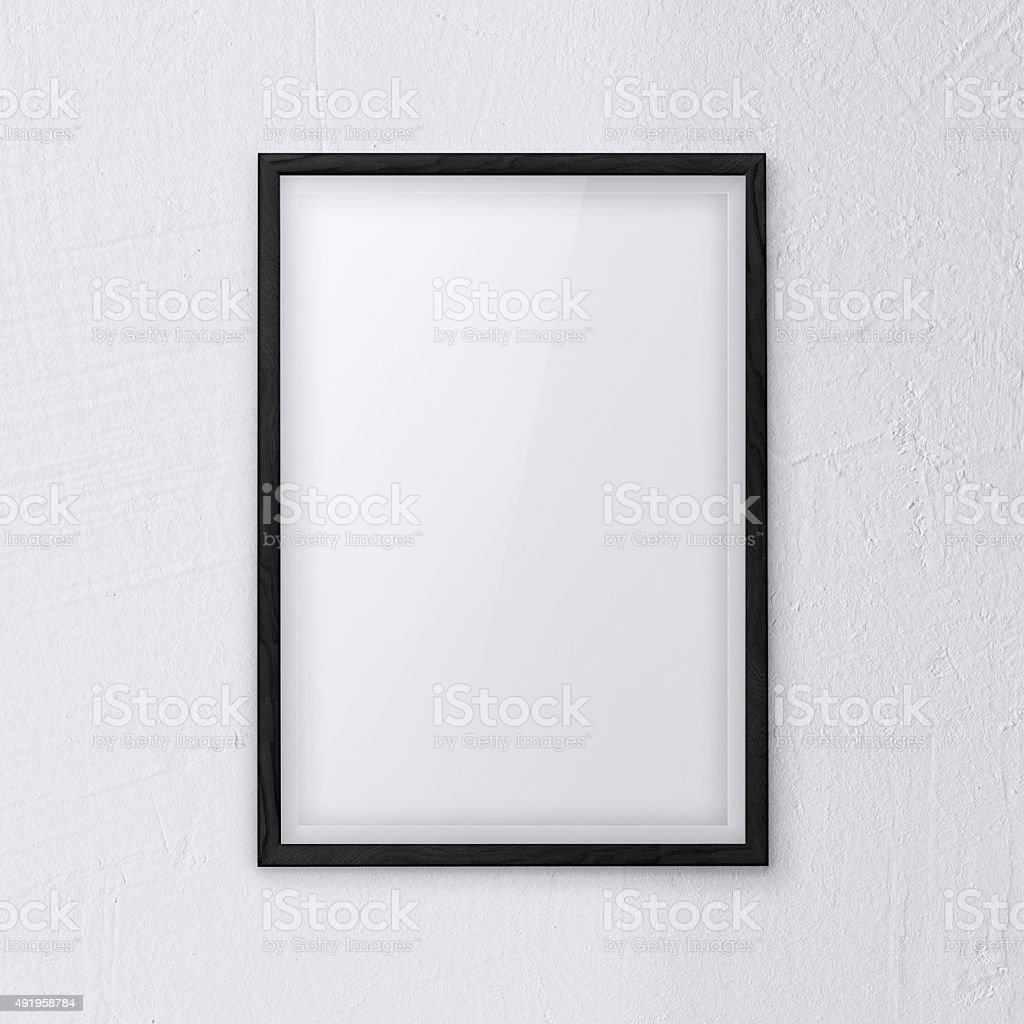 frame wall white stock photo