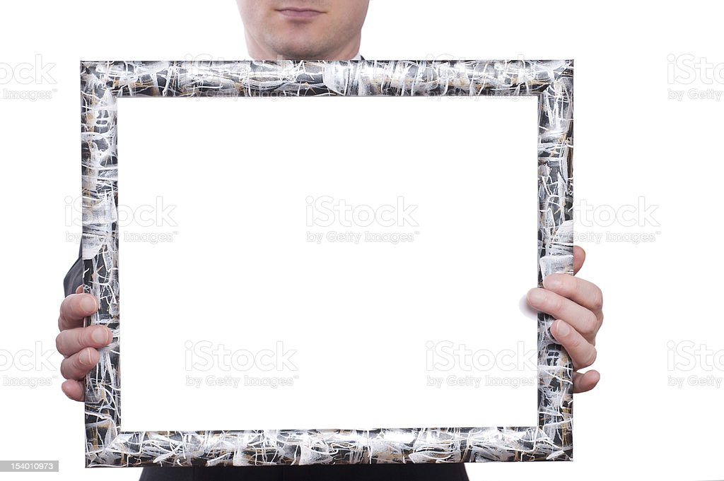 Frame with two hands royalty-free stock photo