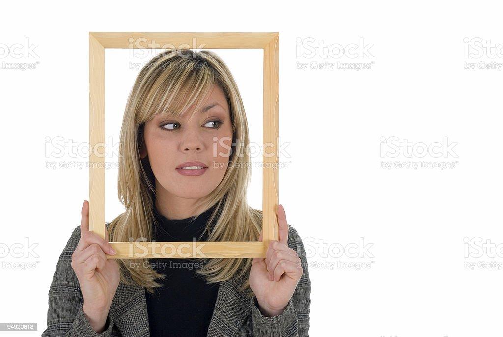 Framed beauty royalty-free stock photo