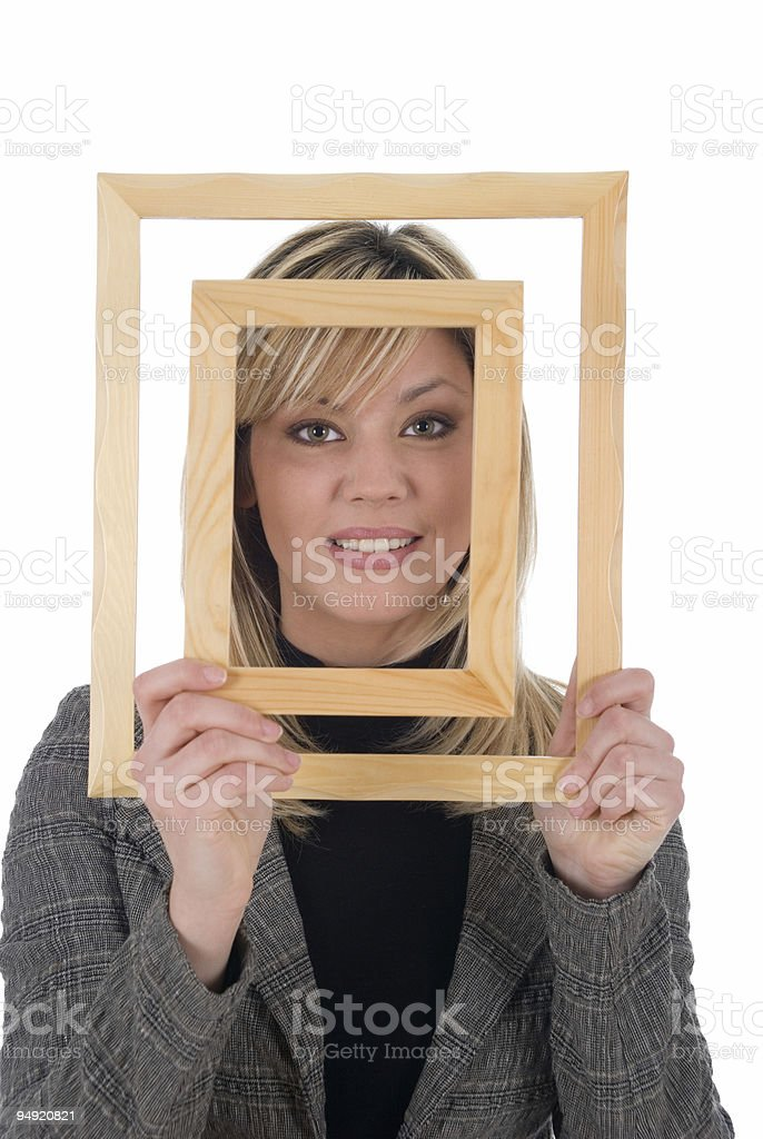 Framed beauty royalty-free stock photo
