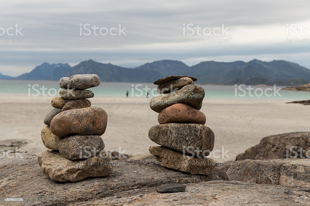 Framed by pebbles royalty-free stock photo