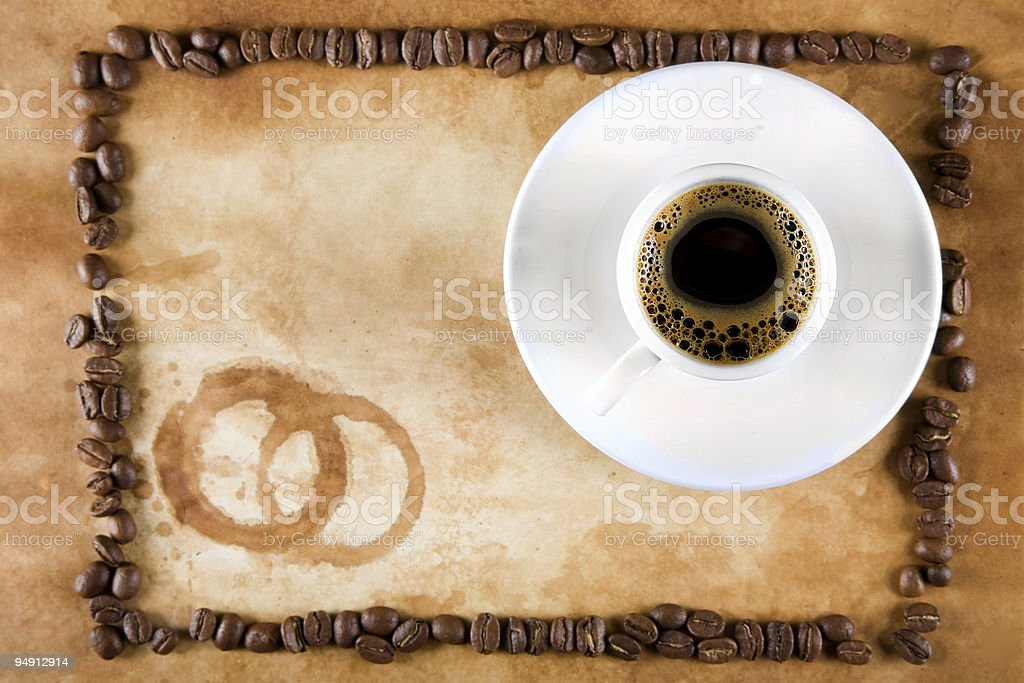 Framed Coffee from Above royalty-free stock photo