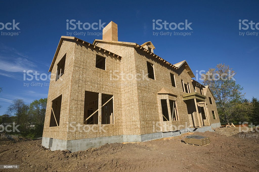 Framed House Long View stock photo
