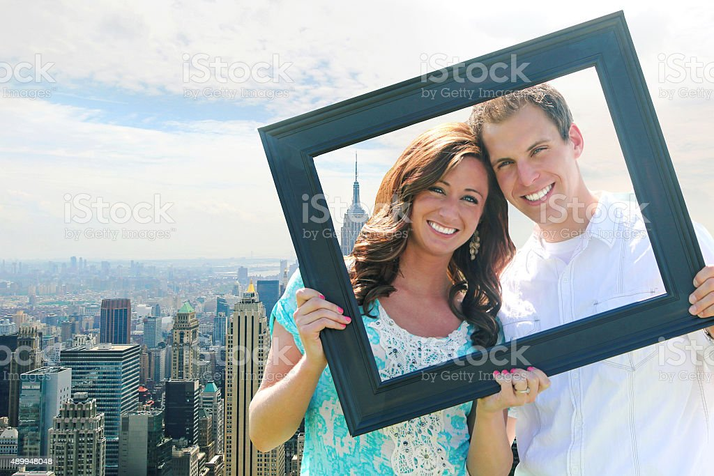Framed in New York City stock photo