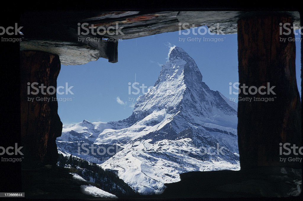 Framed Matterhorn one royalty-free stock photo