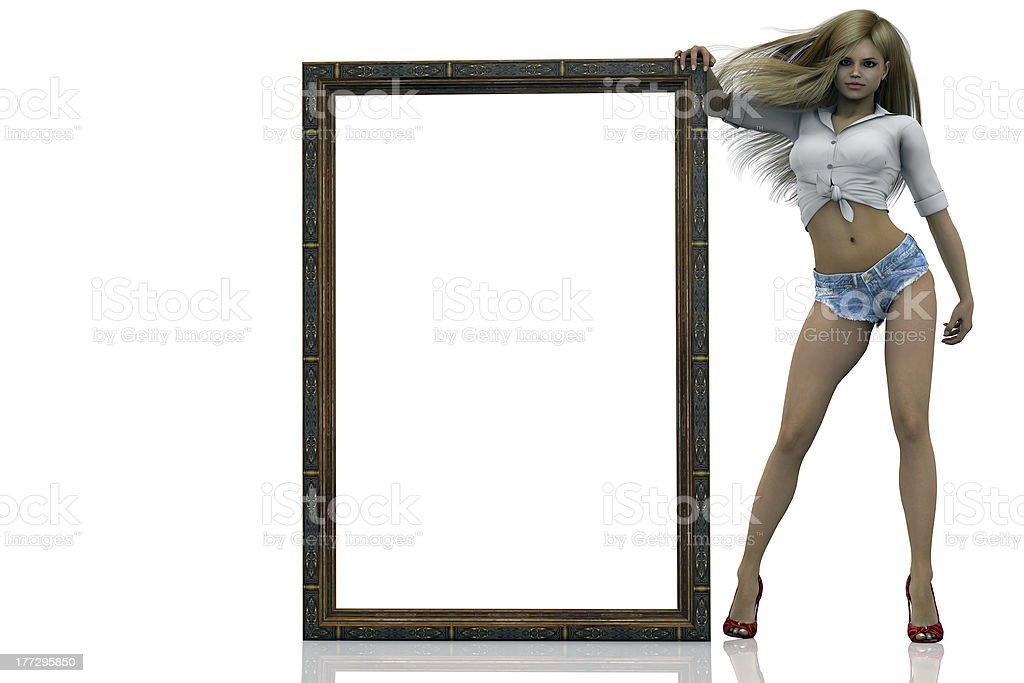 framed stock photo