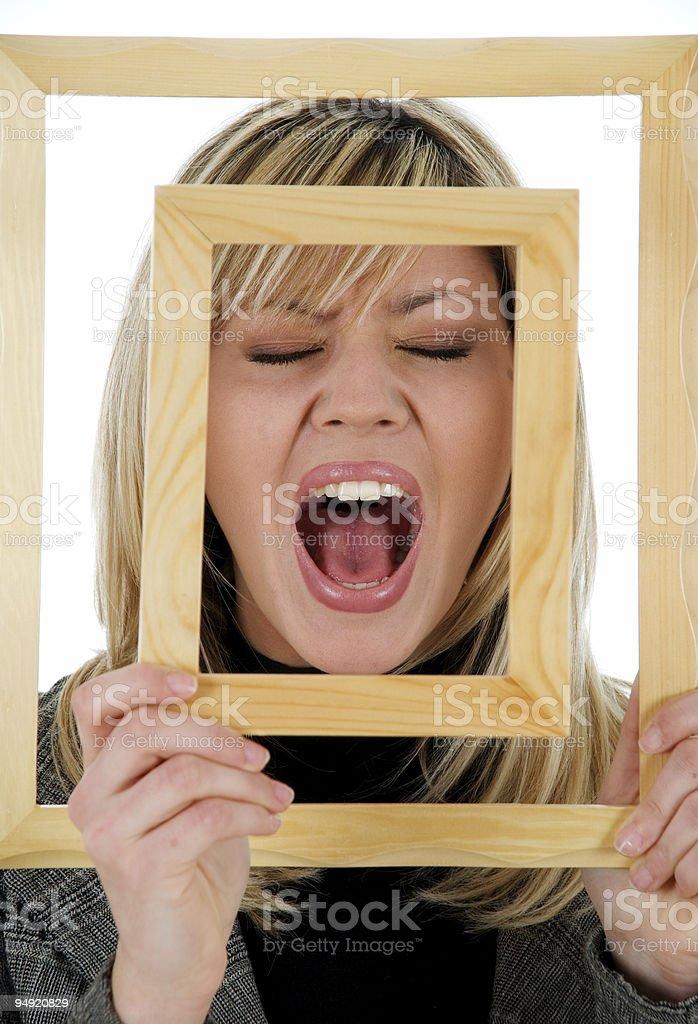 Framed scream royalty-free stock photo