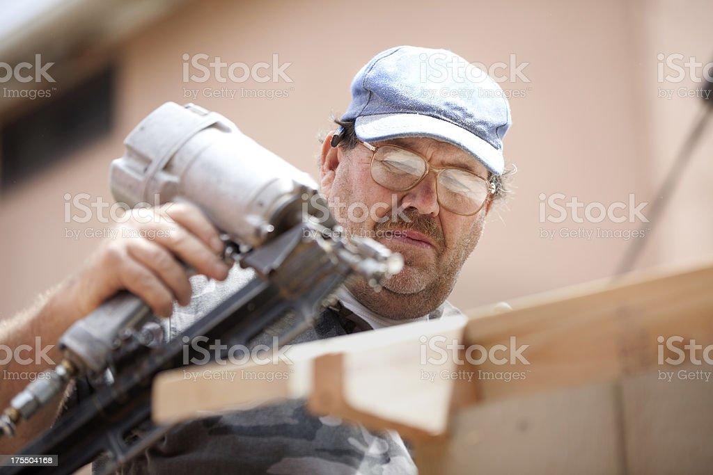 Framer-Pneumatic Nail Gun stock photo