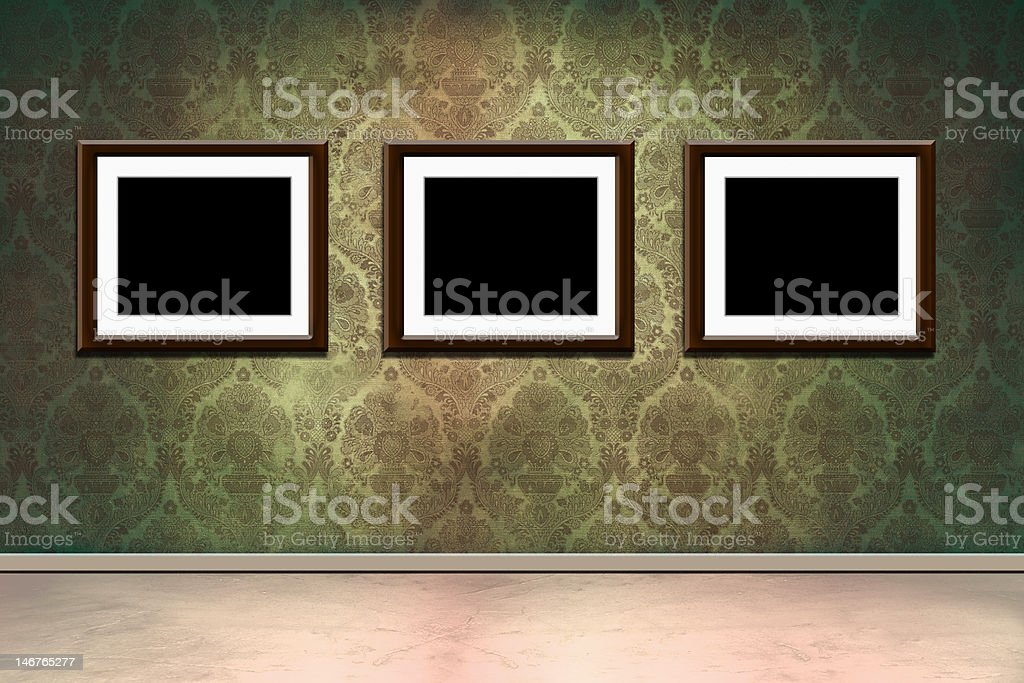 grungy fotogramas en la habitación foto de stock libre de derechos