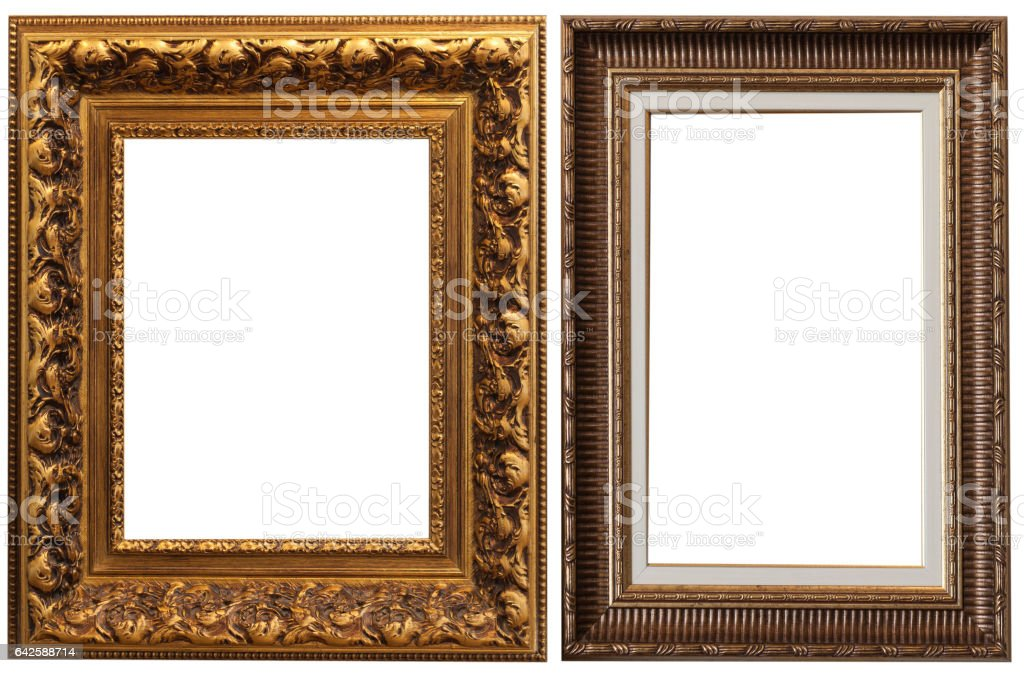 Frames isolated stock photo