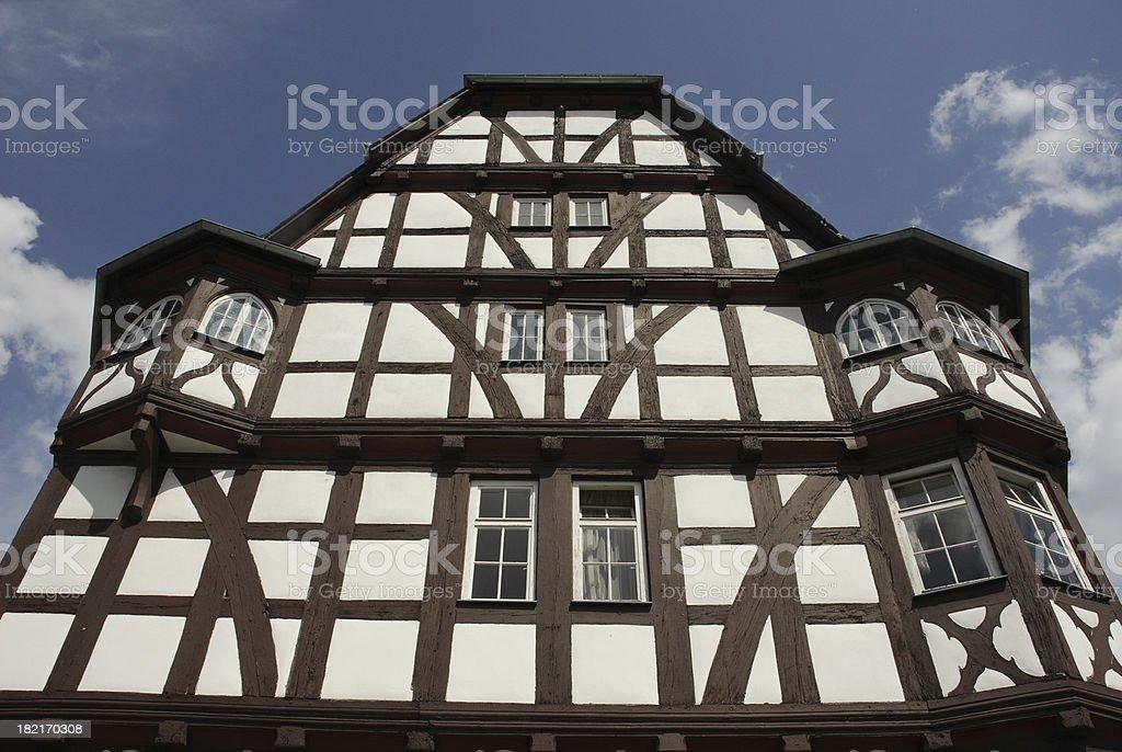 framework building in Germany stock photo