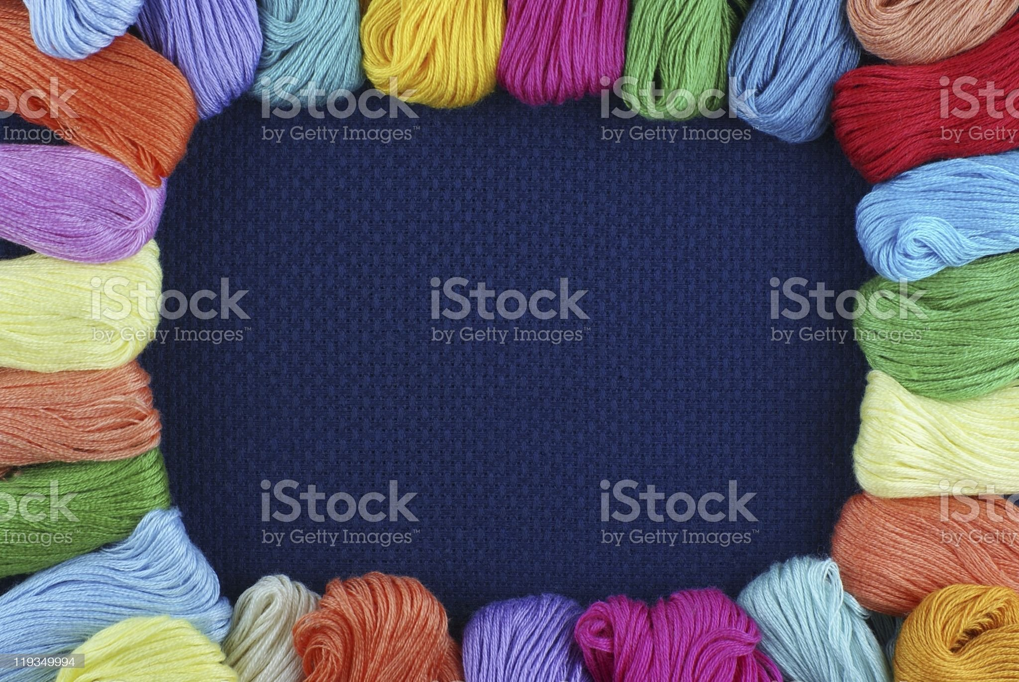Framework from multi-coloured threads royalty-free stock photo