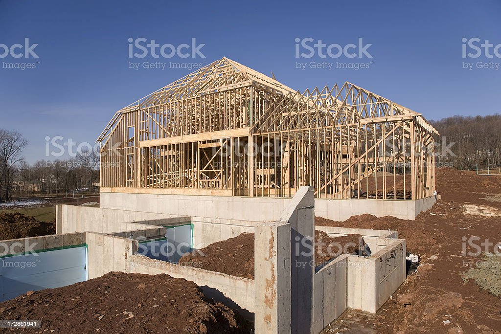 Framing and Foundation royalty-free stock photo