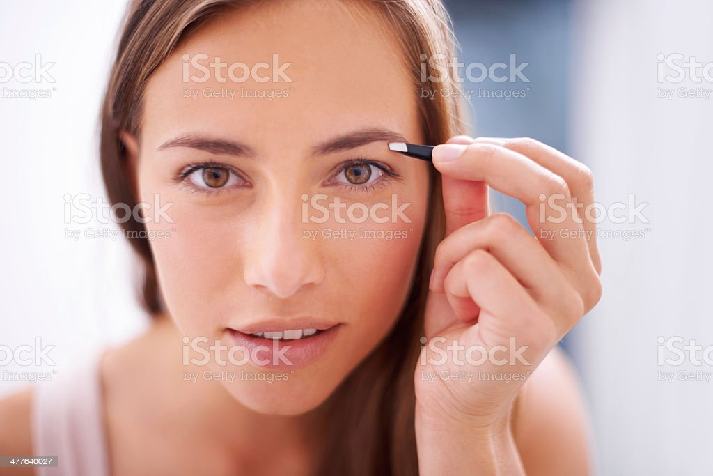 Framing her gorgeous eyes stock photo