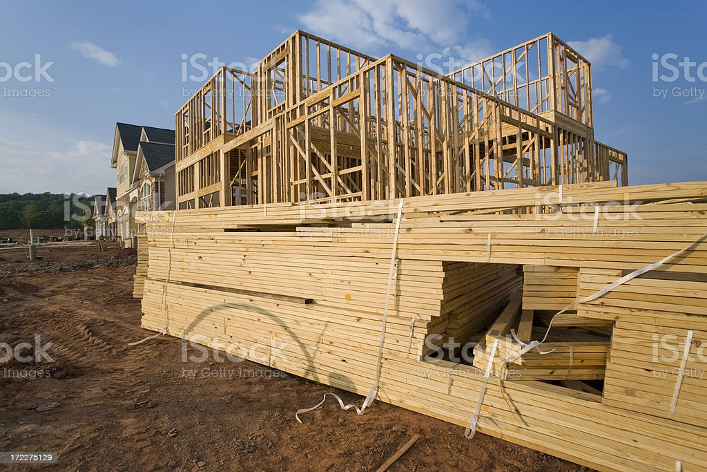 Framing in a Development royalty-free stock photo